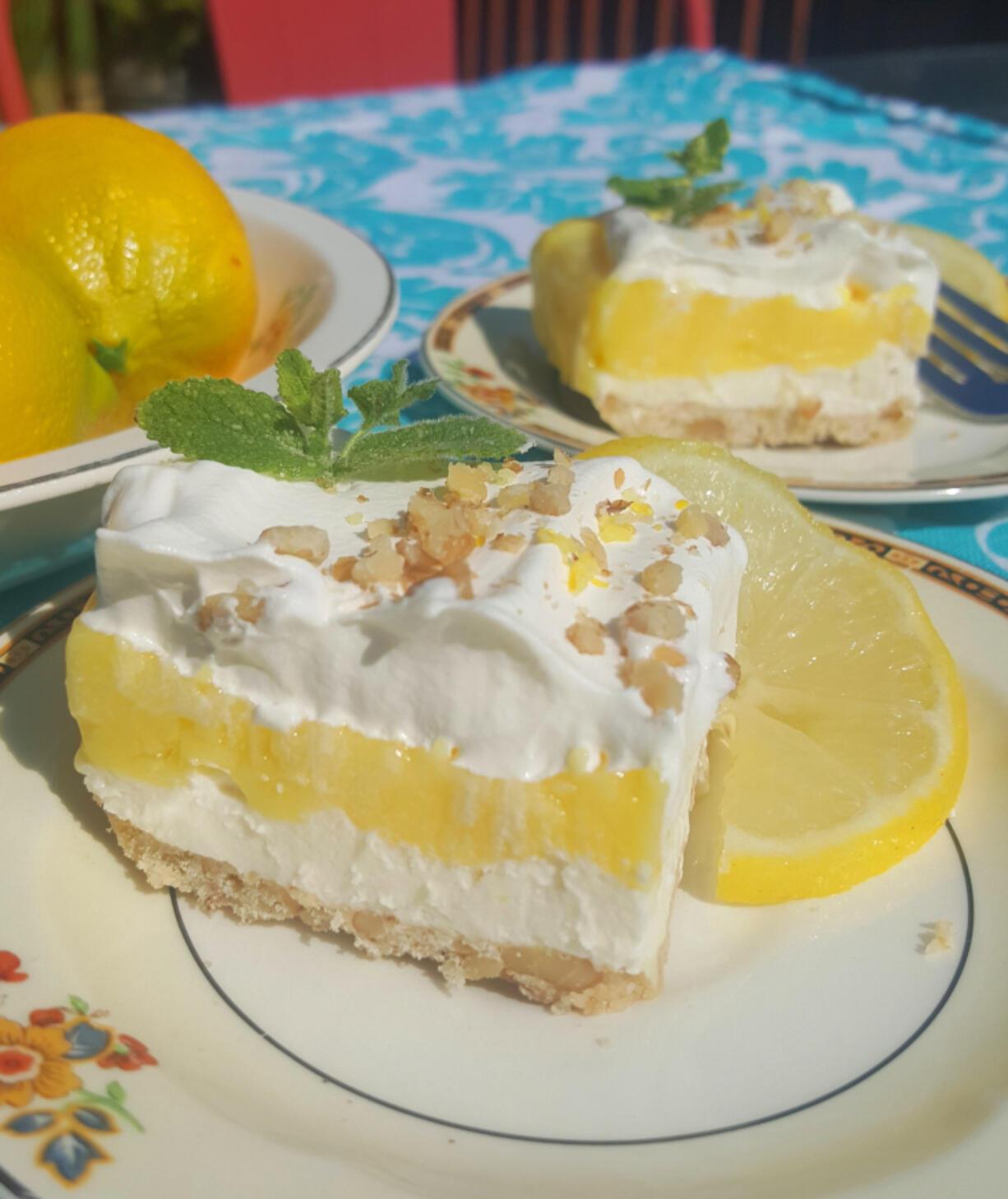 This citrusy, summery dessert is similar to lemon bars but uses lemon pudding in place of lemon curd.