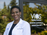 """Dr. Shannel Adams, OB-GYN and reproductive endocrinologist, will welcome patients at the Pacific Northwest location of the Vios Fertility Institute later this month.  """"I've always been drawn back to home specifically because I think the Pacific Northwest is a unique area with a very special patient population and great, kind people who are open to many things,"""" she said."""