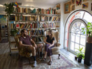 Lucas Gubala and Sarah Summerhill recently opened Birdhouse Books on the corner of Main Street and Evergreen Boulevard. The shop's name refers to the fact the store is upstairs.