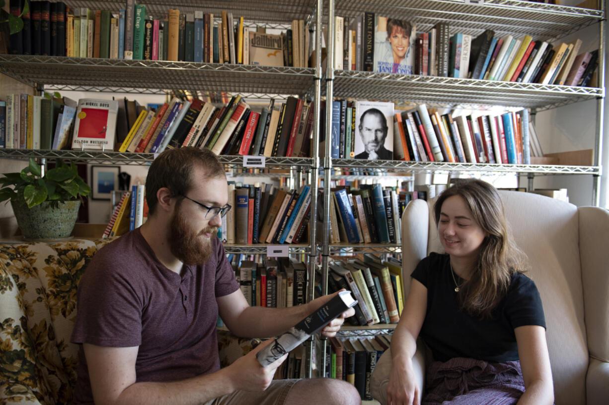 Lucas Gubala and Sarah Summerhill recently opened Birdhouse Books on the corner of Main Street and Evergreen Boulevard.