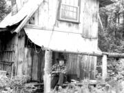 Author Stephen Altschuler in 1977, age 32, and his home in the New Hampshire woods.