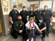 Members of Clark County Fire District 6 joined in on the birthday festivities for Alvera Kelly as she turned 100 years old earlier this month.