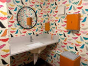 Dandelion Teahouse calls its bathroom the Roost Room.
