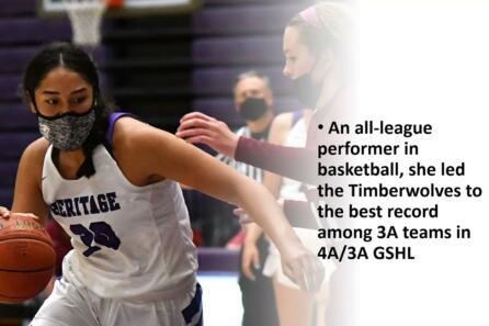 All-Region female athlete of the year: Katie Peneueta, Heritage High School video