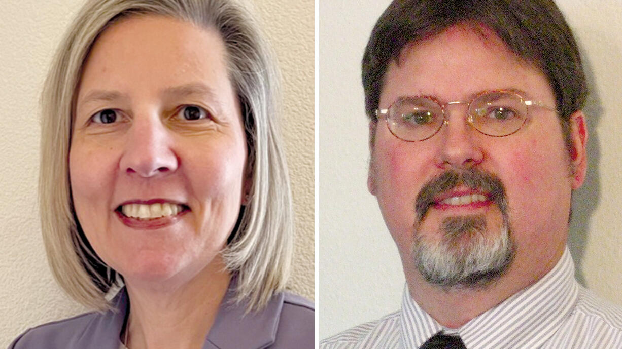 Julie Bocanegra and Mike Appel were leading in vote totals for Evergreen School District, Seat  No. 1, on election night.