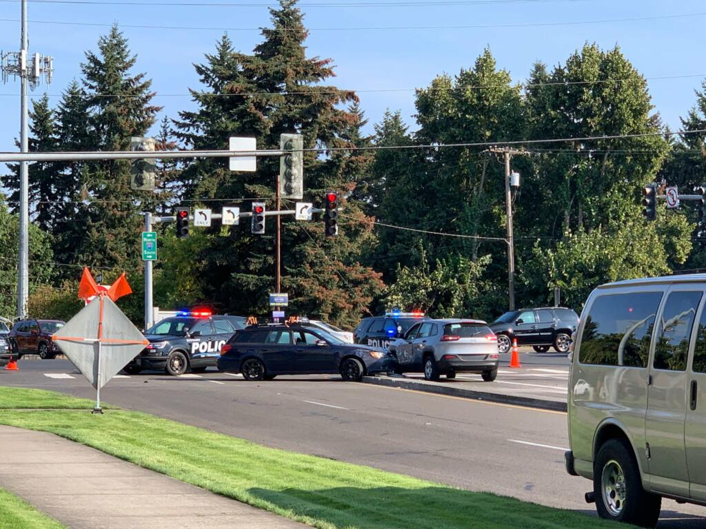 Vancouver police investigate what appears to be a fatal crash near Vancouver Mall.