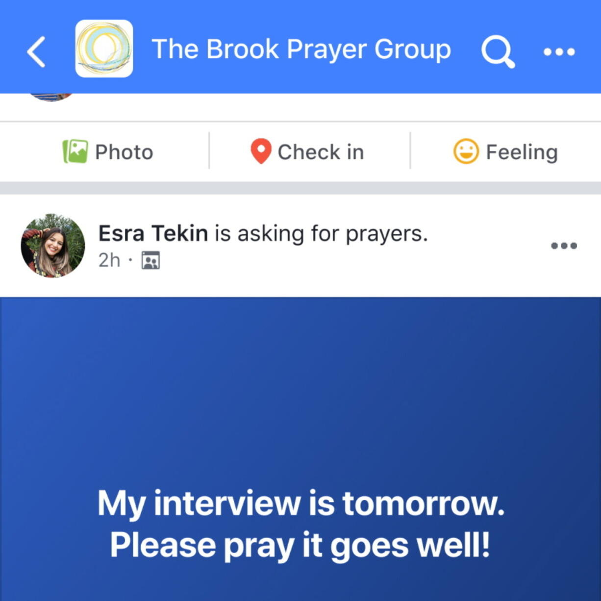 This image provided by Facebook in August 2021 shows a simulation of the social media company's prayer request feature. The tool has been embraced by some religious leaders as a cutting-edge way to engage the faithful online. Others are eyeing it warily as they weigh its usefulness against the privacy and security concerns they have with Facebook.