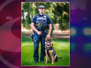 Vancouver police Cpl. Ryan Starbuck and K-9 partner Tex.