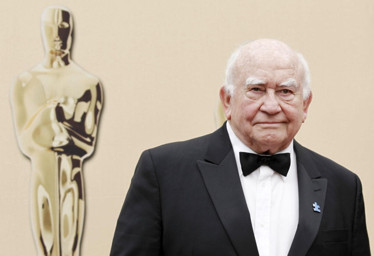 FILE - In this March 7, 2010, file photo, actor Ed Asner arrives during the 82nd Academy Awards in the Hollywood section of Los Angeles. Asner, the blustery but lovable Lou Grant in two successful television series, has died. He was 91. Asner's representative confirmed the death in an email Sunday, Aug. 29, 2021, to The Associated Press.