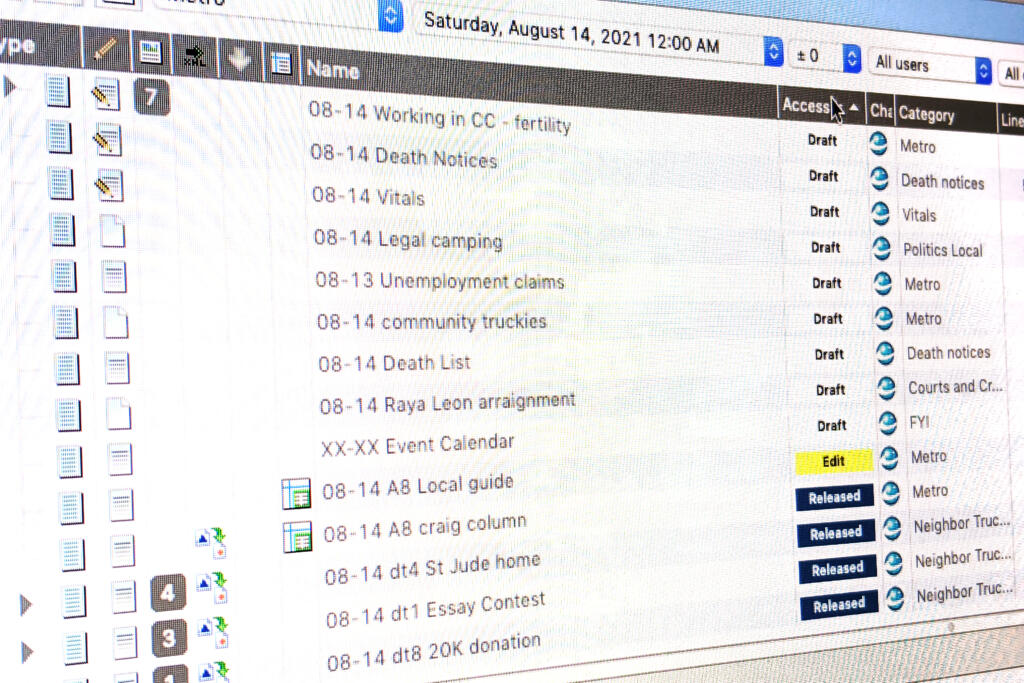 The Columbian uses a content management system called NCS Content to organize and edit stories.