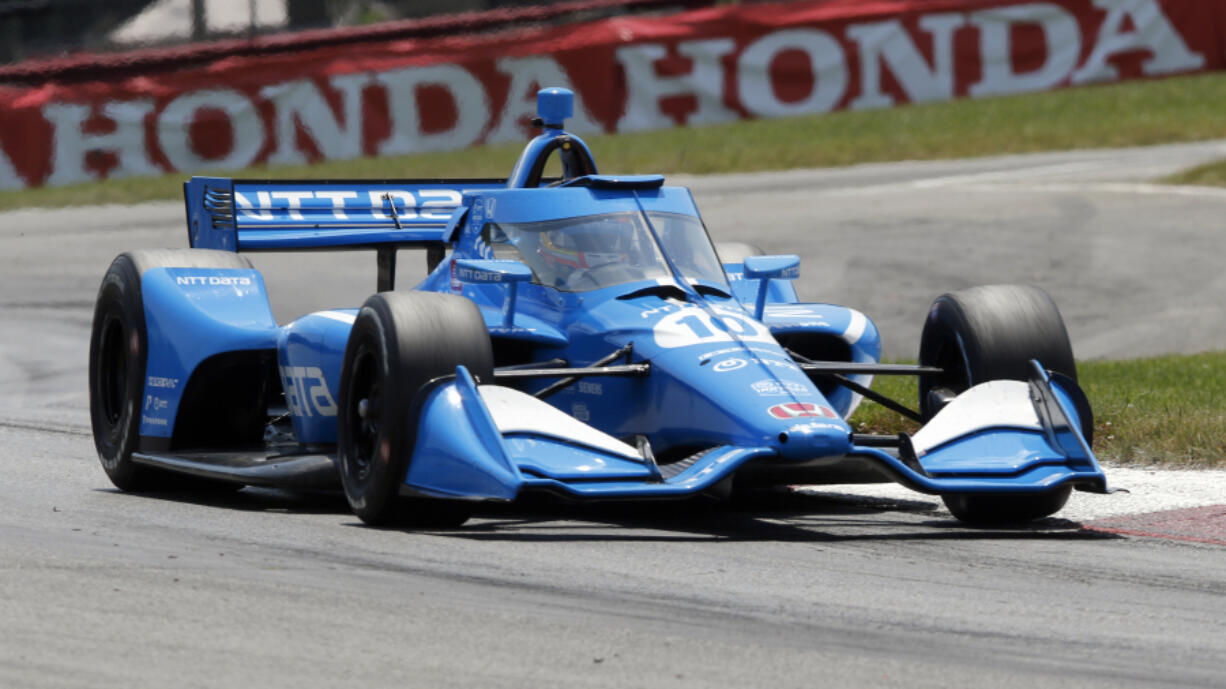 Driver Alex Palou sits second in the IndyCar standings with just the three-race West Coast swing remaining. That swing starts Sunday with the Grand Prix of Portland. (AP Photo/Tom E.