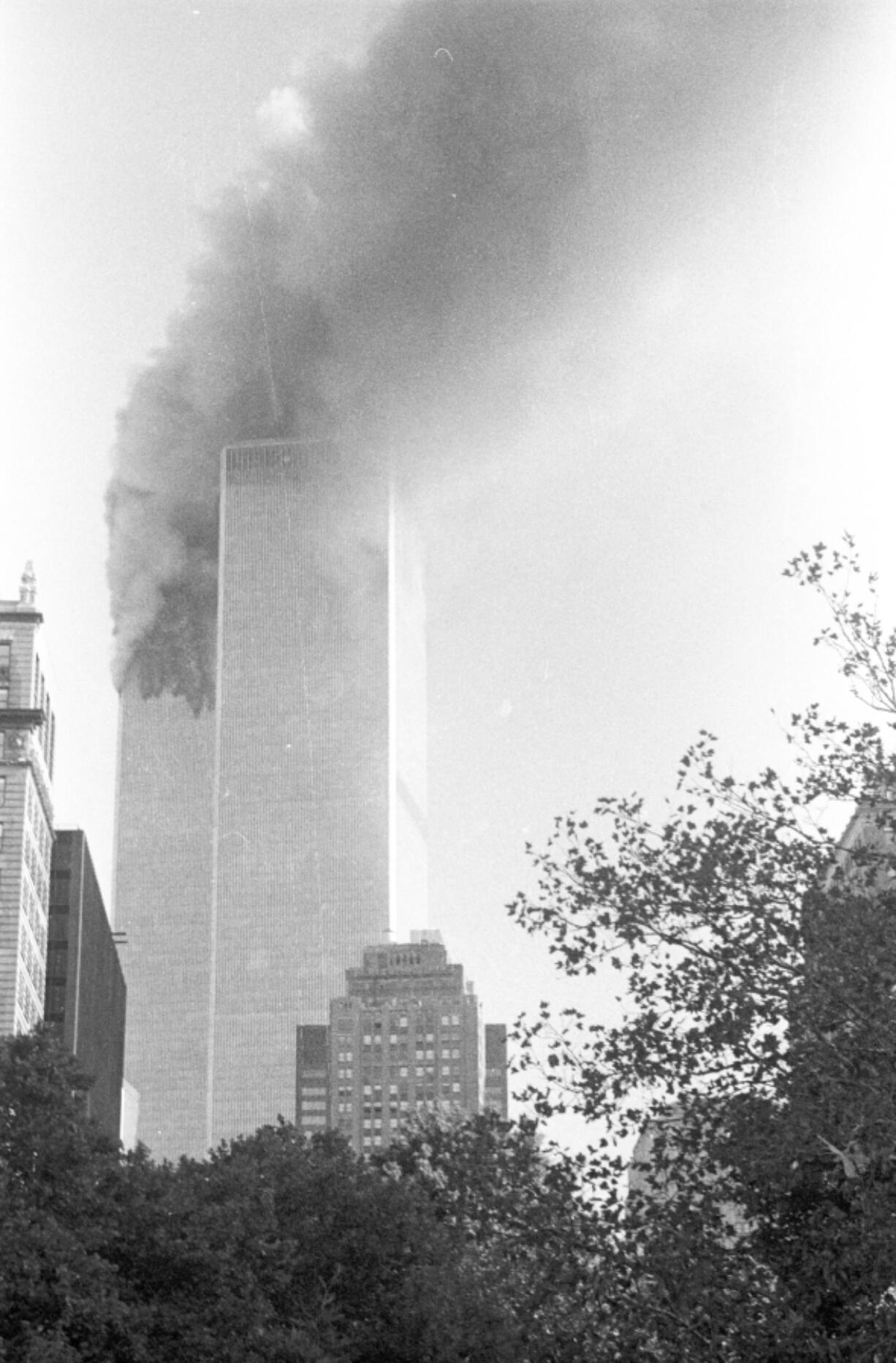 Michelle Baker of Vancouver was visiting New York City on Sept. 11, 2001. She took this photo from about 10 blocks away from the World Trade Center.