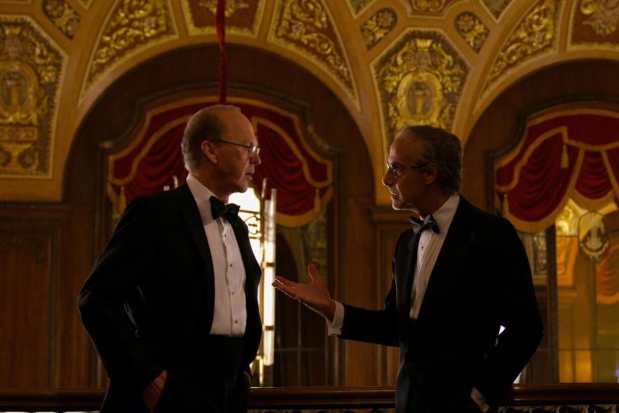 "Michael Keaton and Stanley Tucci in ""Worth."" (Monika Lek/Netflix)"