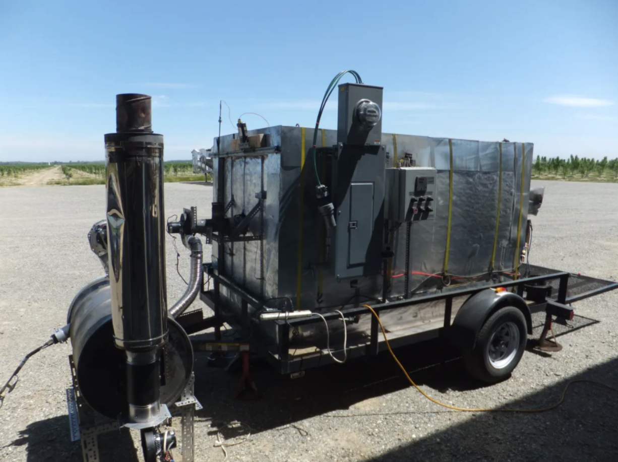 A research pyrolysis processor (Courtesy of C6 Forest to Farm)