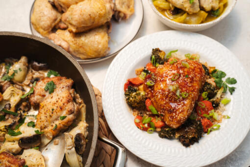 The bones and skin on chicken thighs lock in moisture and flavor, making them a particularly delicious piece of meat.