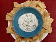 """Cold Cucumber Dip from """"Come On Over!"""" by Elizabeth Heiskell."""