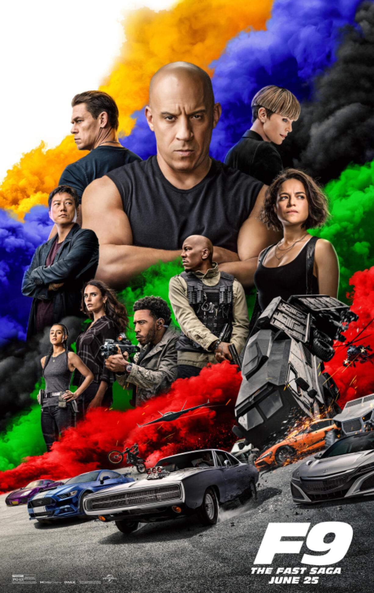 """Key art for the ninth """"Fast and the Furious"""" film, """"F9: The Fast Saga."""" (Universal Pictures/TNS)"""