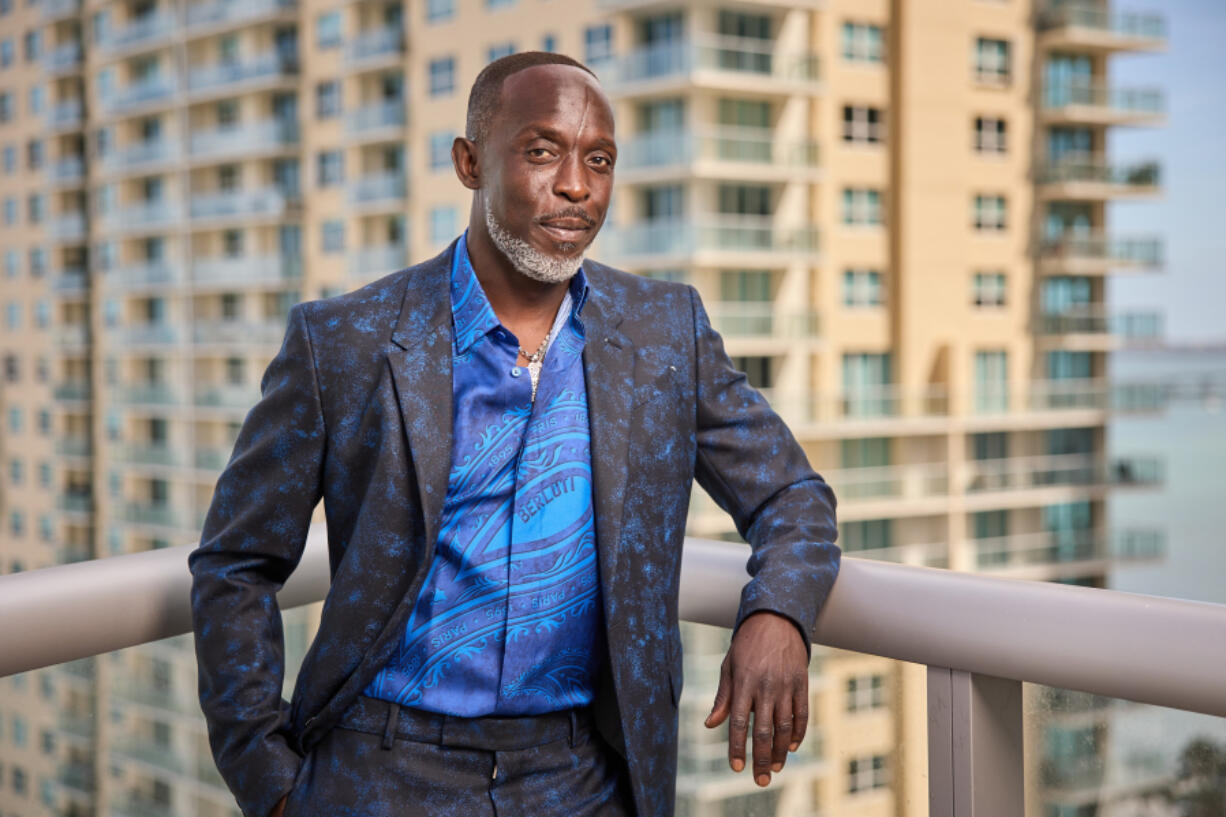 Michael K. Williams is seen in his award show look for the 27th Annual Screen Actors Guild Awards on March 31 in Miami.