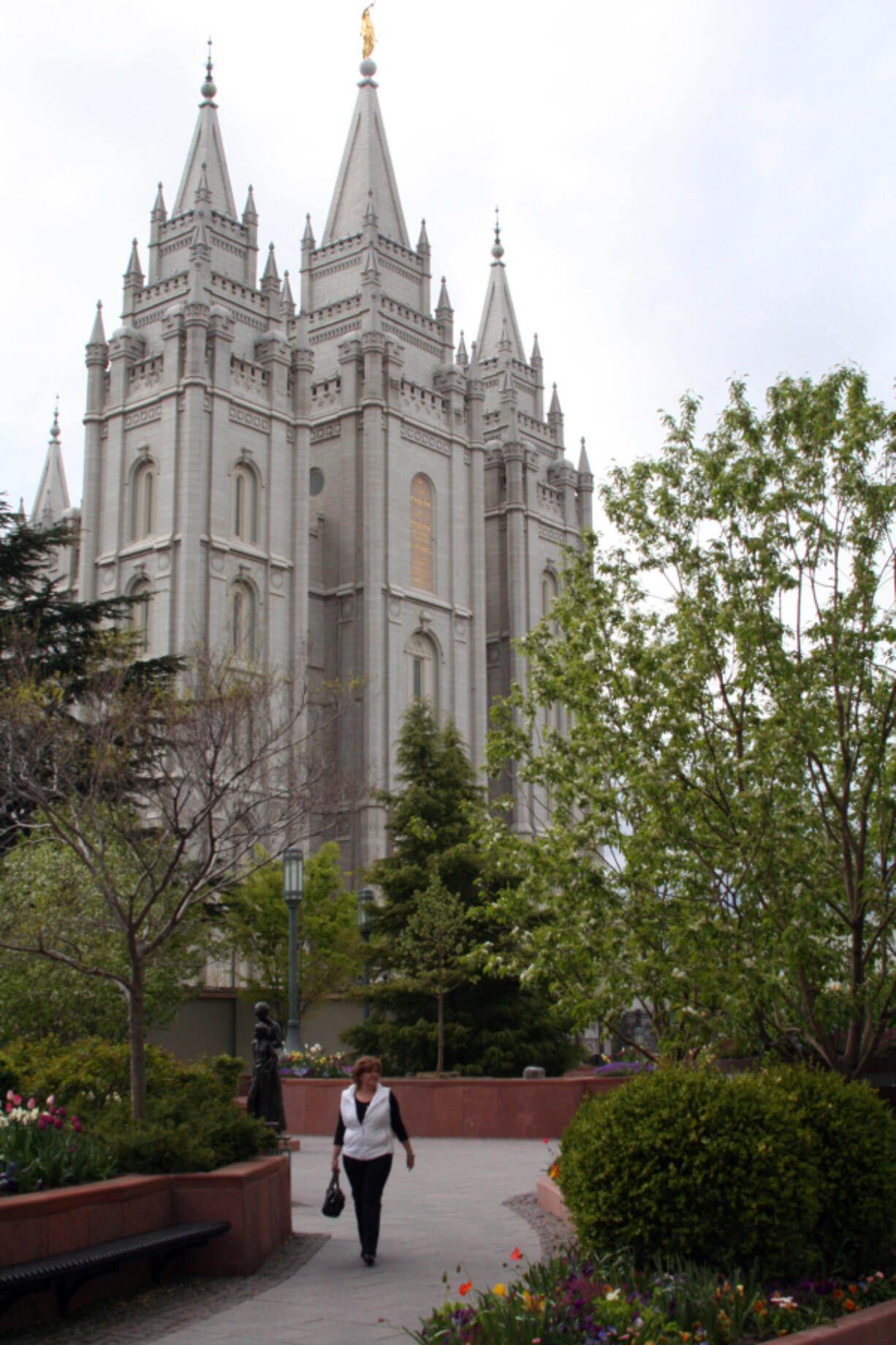 Temple Square, the headquarters of the Church of Jesus Christ of Latter-day Saints, is a central sight in downtown Salt Lake City, Utah. Leaders of the Church of Jesus Christ of Latter-day Saints have ordered the use of face masks in its temples worldwide to fight COVID-19.