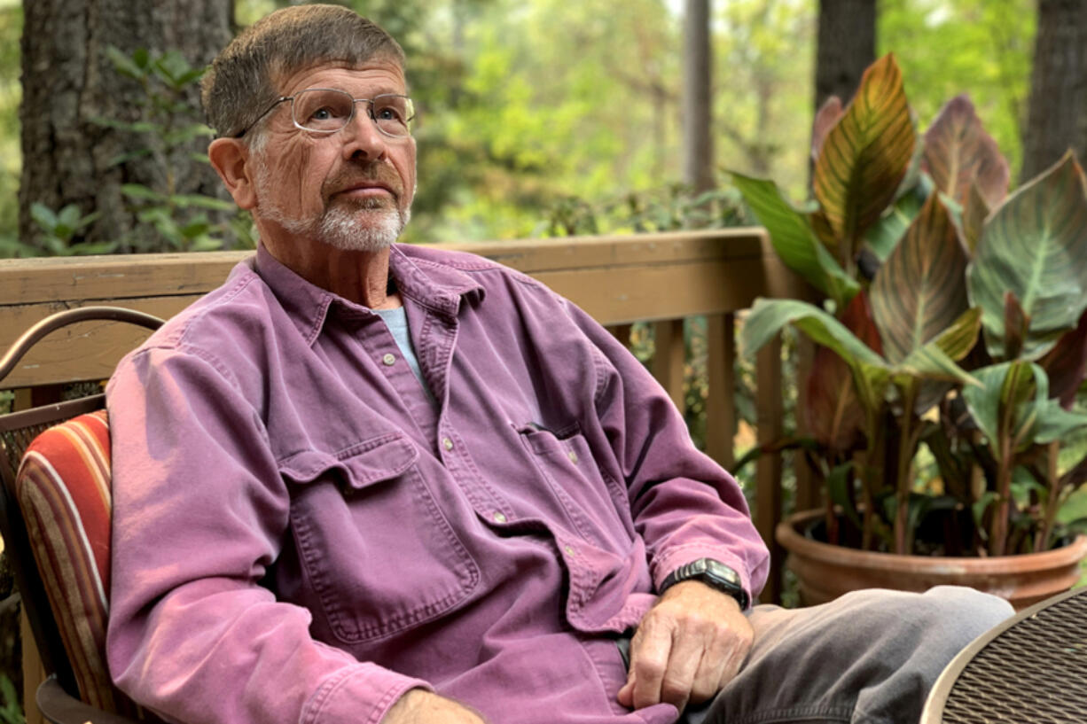 Charlie Callagan, pictured at his home in Merlin, Ore., was already on the road to Portland for a bone marrow transplant when he got word that the hospital had canceled it.
