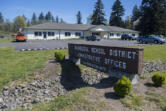 The Washougal School District Administrative Offices are pictured Tuesday morning, April 14, 2020.