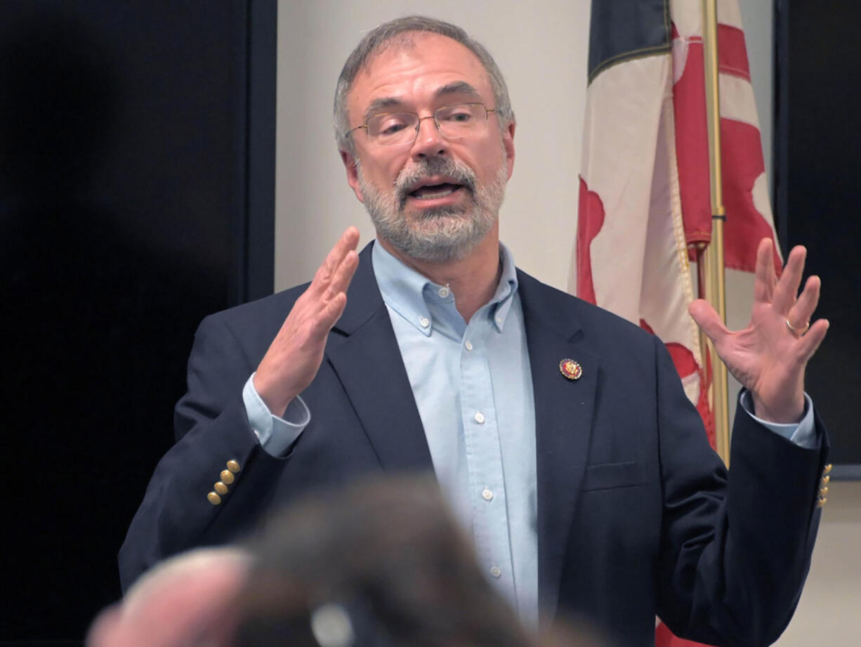 Rep. Andy Harris, R-Md., during a town hall meeting at Kingsville Volunteer Fire Company on Dec. 20, 2019.
