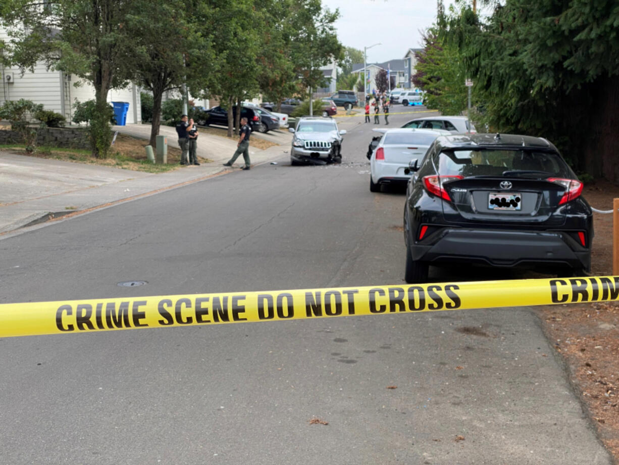 Sheriff's deputies investigate reports of gunfire in the 9700 block of Northeast 19th Avenue on Friday.