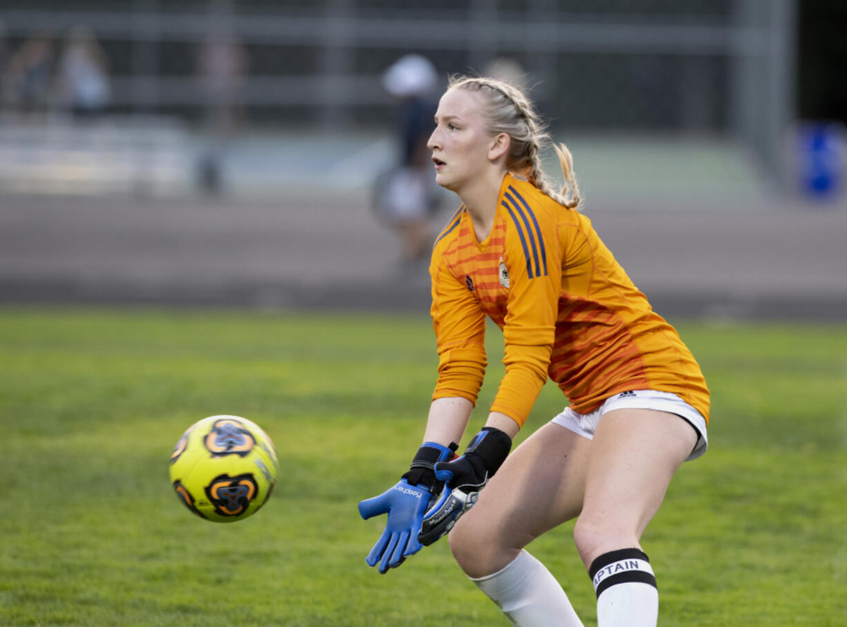 Hockinson goalkeeper Amanda Jeschke helped the Hawks to an unbeaten season last spring in which they did not allow a goal.