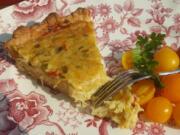 Savory Swiss Pie has 2 cups of Swiss cheese plus plenty of zucchini and yellow squash.
