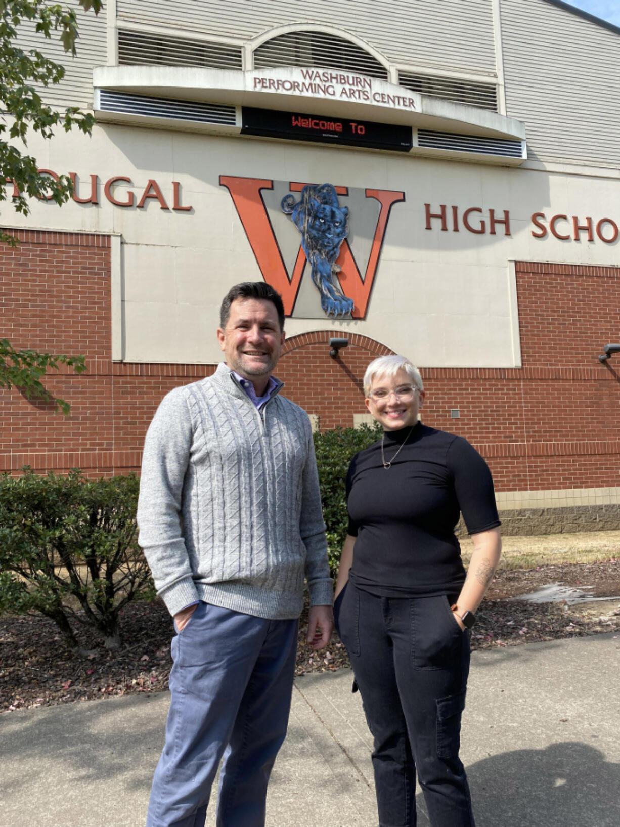 Band teacher David Duarte and choir teacher MaKenna Clendenen join Washougal High School's fine arts department.