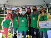 ESTHER SHORT: Kensie Broom, from left, Jenn Hutchman, Jaimie Garver, Jazmynn Hoffman, Brandi Towner and Danielle Chancey helped Furry Friends raise money for its no-kill cat shelter.