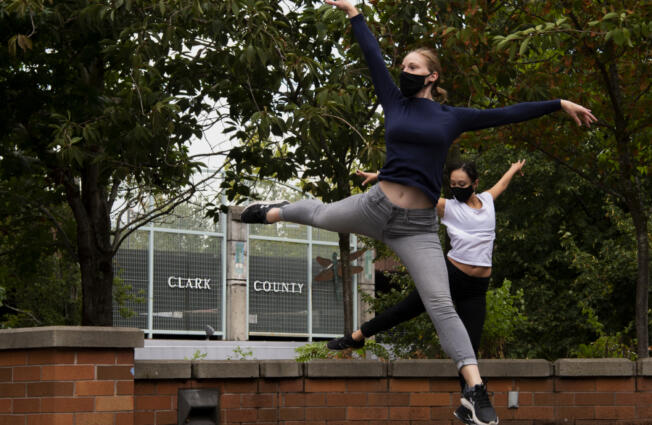 Members of the Washington Dance Creative perform during Saturday's Arts Alive! event at the Clark County Public Service Center Plaza in downtown Vancouver.