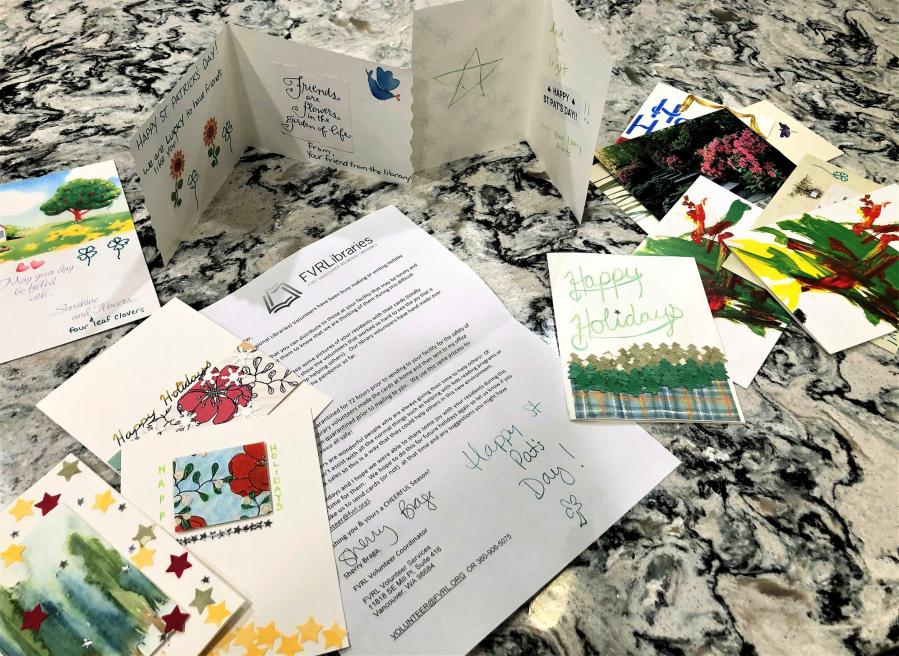 FVRLibraries' Letters to Seniors program spreads handmade cheer
