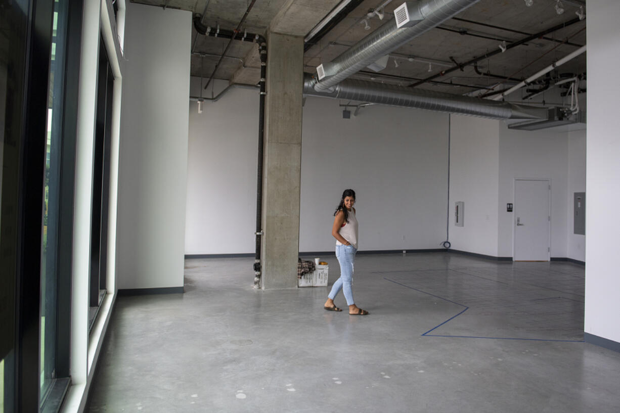 Amanda Serrano hopes to open Be Well, a juice bar at The Waterfront Vancouver, by the end of the year, as seen Thursday morning. The new space is in the RiverWest building between Kafiex Roasters and Airfield Estates Winery.