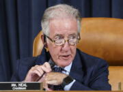 In this Sept. 9, 2021 photo, House Ways and Means Committee Chairman Richard Neal, D-Mass., presides over a markup hearing to craft the Democrats' Build Back Better Act, massive legislation that is a cornerstone of President Joe Biden's domestic agenda, at the Capitol in Washington. (AP Photo/J.