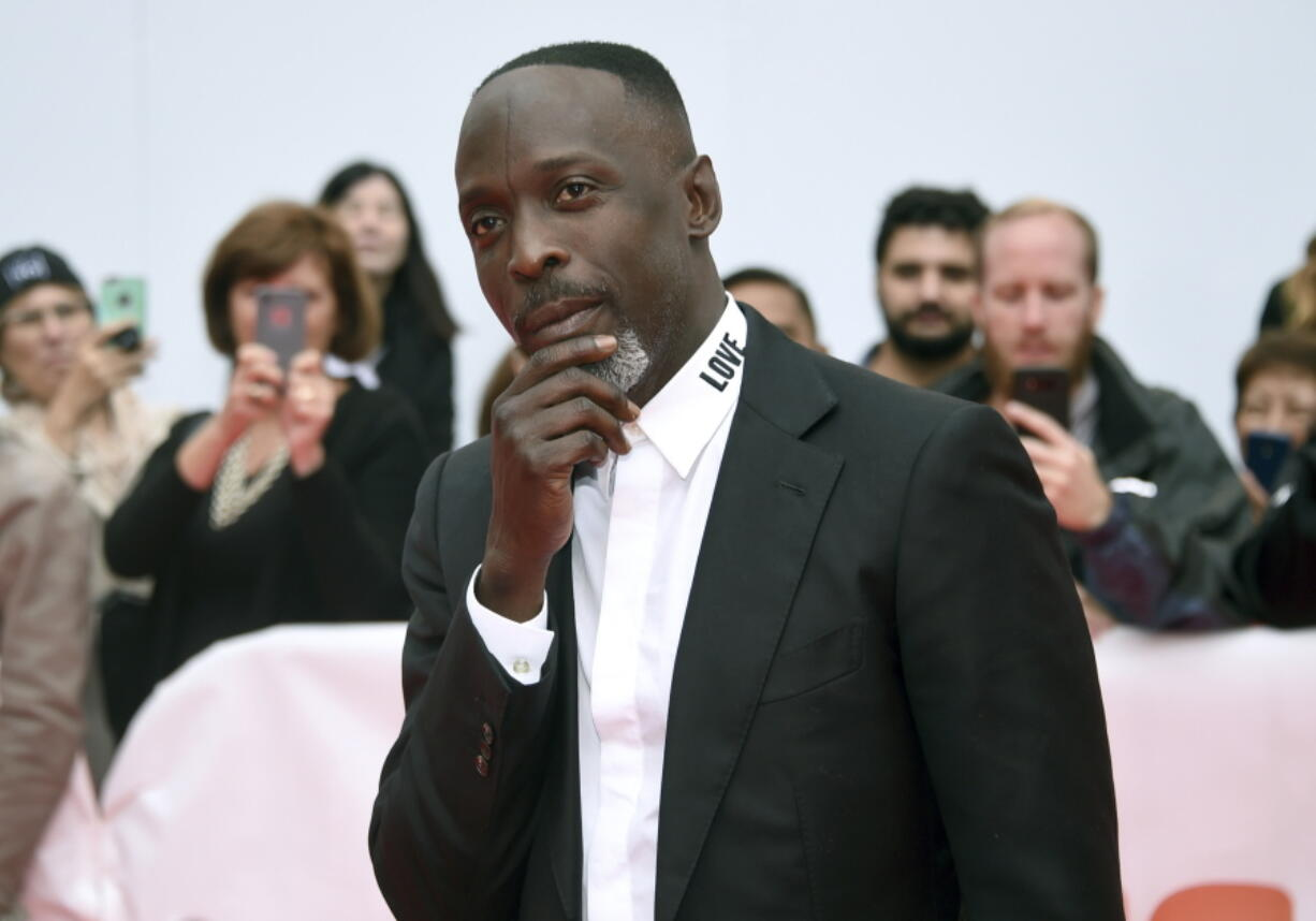 """Michael K. Williams attends a gala Sept. 9, 2018, for """"The Public"""" on Day 4 of the Toronto International Film Festival at Roy Thomson Hall in Toronto."""