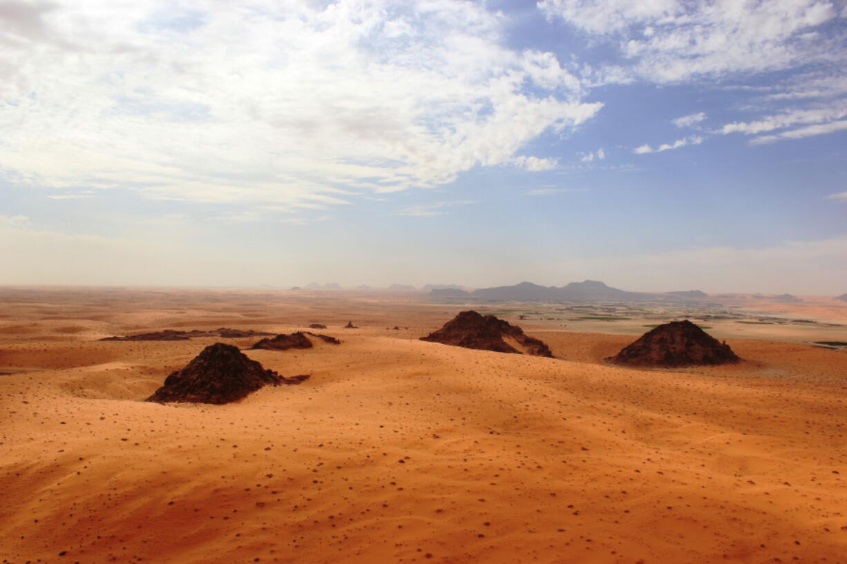 The Jubbah Oasis in northern Saudi Arabia, where humans were repeatedly present during periods of increased rainfall over hundreds of thousands of years.