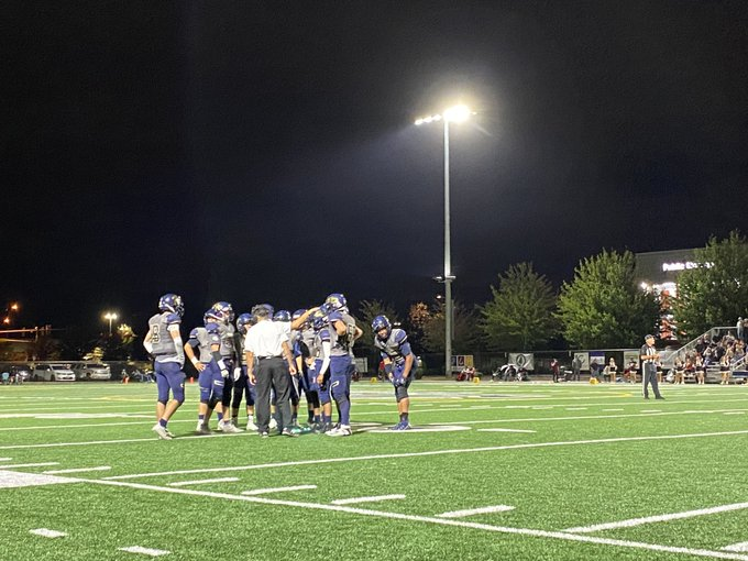 Seton Catholic celebrated the 10-year anniversary of the establishment of its football program during Friday's game against Tenino (McKenna Morin/For The Columbian)