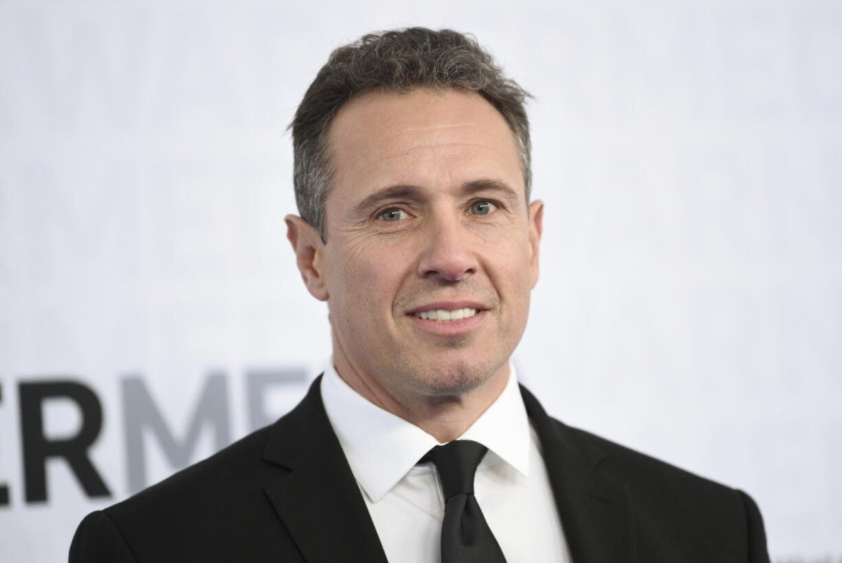 FILE - This May 15, 2019 file photo shows CNN news anchor Chris Cuomo at the WarnerMedia Upfront in New York. Shelley Ross, a veteran TV news executive, said in an opinion piece in the New York Times that CNN anchor Chris Cuomo sexually harassed her by squeezing her buttocks at a party in 2005.