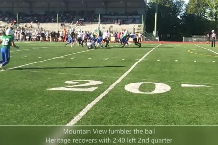 Highlights: Mountain View win over Heritage 49-20 video