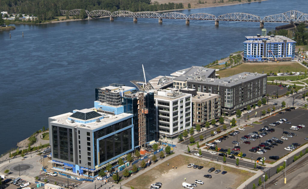 The Vancouver Waterfront pictured from the air on Tuesday, May 11, 2021.