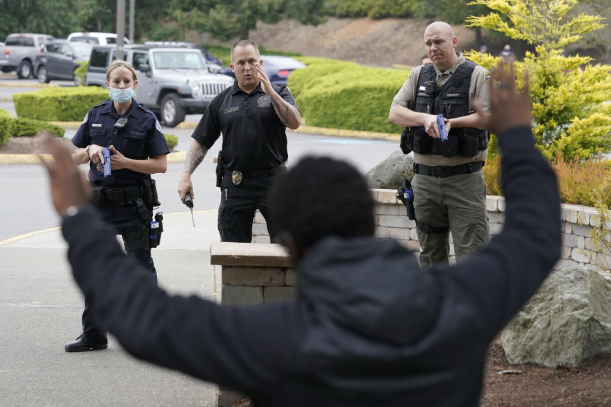 A training exercise is shown in July. The Vancouver Police Department received 84 suggestions on how it can improve internal operations. It has fulfilled most of the suggestions but still has to create an internal critical incident review board, work on data collection and further its police camera program.