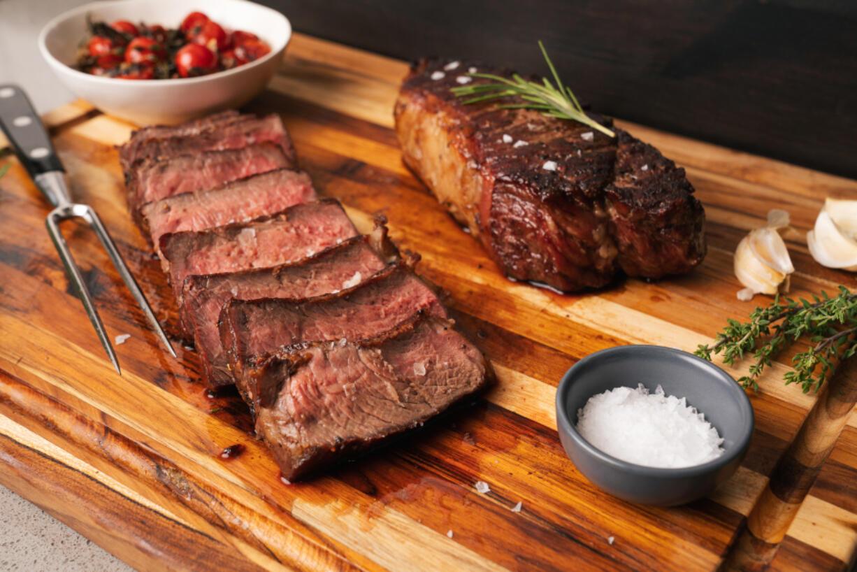 Reverse sear steak.