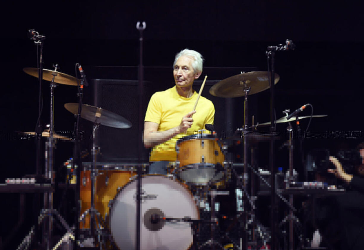 Musician Charlie Watts of The Rolling Stones performs during Desert Trip at the Empire Polo Field on October 14, 2016 in Indio, California. Watts died on Aug. 24, 2021, at age 80.