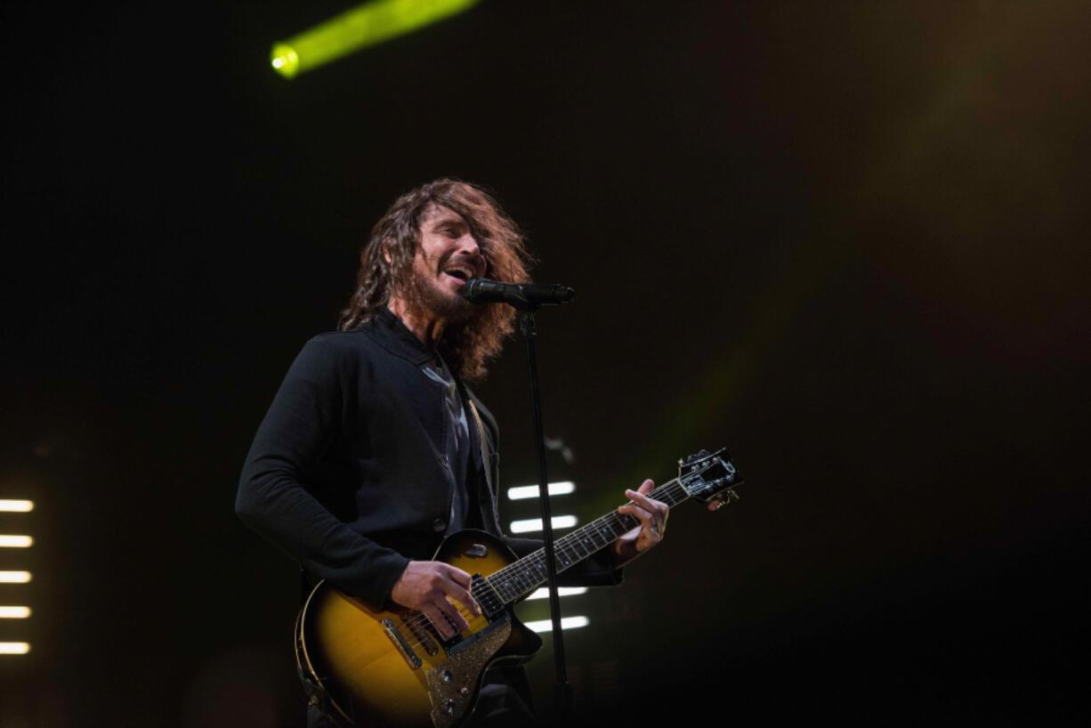 Chris Cornell of Soundgarden performs on April 29, 2016, at Welcome to Rockville Festival at Metropolitan Park in Jacksonville, Florida.