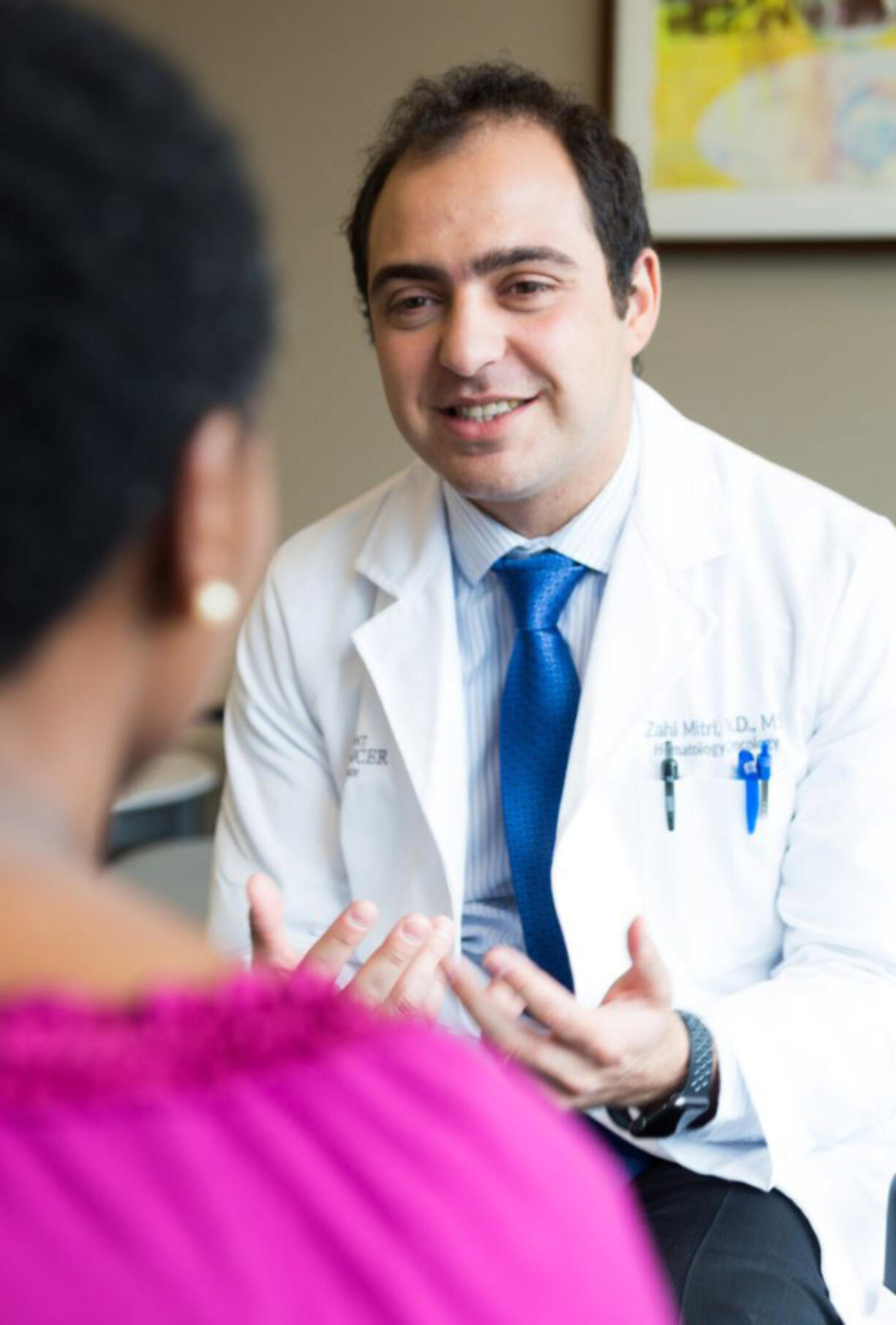 Zahi Mitri, M.D., M.S., is an OHSU School of Medicine assistant professor and a medical oncologist at the OHSU Knight Cancer Institute in Portland.