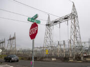 A Bonneville Power Administration substation to the east of Interstate 5 is pictured near Hazel Dell on Friday morning. The Northwest Power and Conservation Council, which oversees BPA's long-term growth, recently released its draft 2021 Northwest Power Plan for public comment.