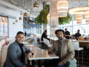 Jorge Castro, left, and Rahim Abbasi worked together to design Castro's DosAlas Latin Kitchen & Tequila Bar at The Waterfront Vancouver development.