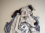 """""""Dog and His Boy"""" by artist Parmalee Cover is on display at Art at the CAVE this month as part of the """"Pet Project"""" exhibit, a fundraiser for the Humane Society."""