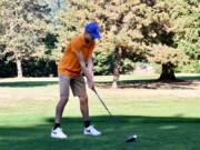 View Ridge Golf's Jamison McCann focuses on the ball during match play.